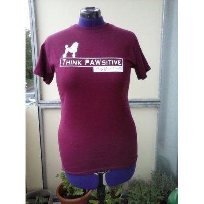 T-Shirt Think Pawsitive - Hug Your Poodle